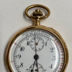 Relojes de bolsillo: RELOJ DE BOLSILLO EN ORO 18K. RUEFF FRERES. PESO TOTAL 82G. Lote 195097785