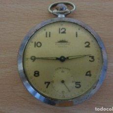 Relojes de bolsillo: ANTIGUO RELOJ DE BOLSILLO AURORE ANTICHOC - FUNCIONANDO. Lote 195134007