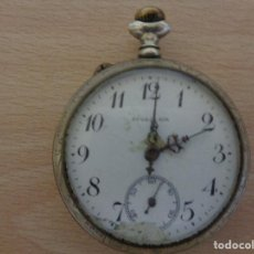 Relojes de bolsillo: ANTIGUO RELOJ DE BOLSILLO FIVALLER - ESFERA ESMALTADA - PARTE TRASERA GRABADA - FUNCIONANDO . Lote 195134606