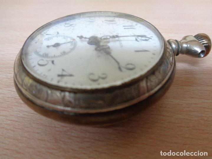 Relojes de bolsillo: Antiguo Reloj de Bolsillo Fivaller - Esfera Esmaltada - Parte Trasera Grabada - Funcionando - Foto 5 - 195134606