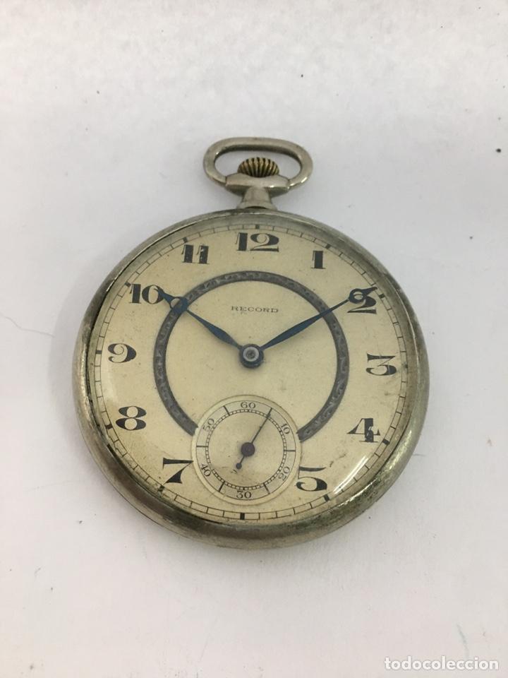 RELOJ DE BOLSILLO RÉCORD CARGA MANUAL MAQUINARIA ORIGINAL SWISS MADE (Relojes - Bolsillo Carga Manual)