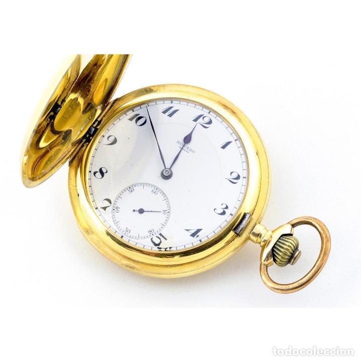 MOVADO. RELOJ DE BOLSILLO SABONETA. CIRCA, 1900. ORO 18K. (Relojes - Bolsillo Carga Manual)