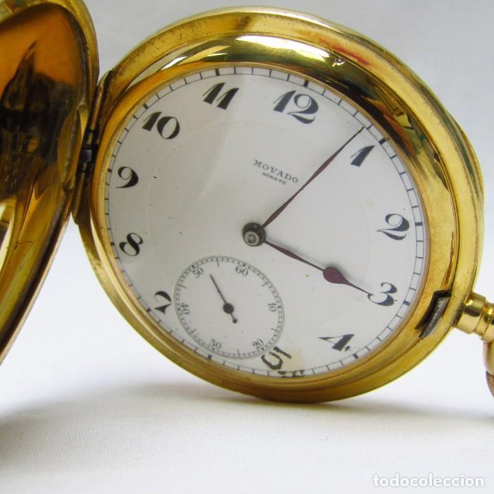 Relojes de bolsillo: Movado. Reloj de Bolsillo saboneta. Circa, 1900. Oro 18k. - Foto 2 - 195161467