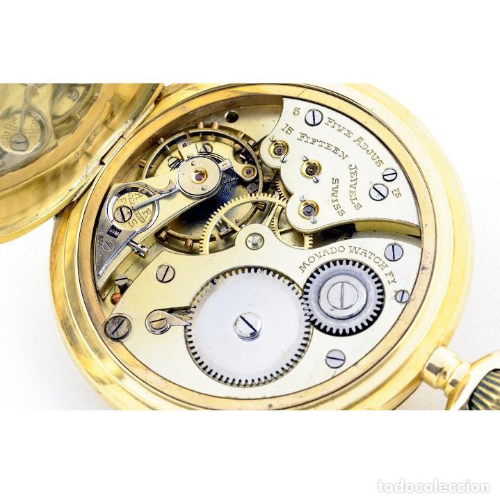 Relojes de bolsillo: Movado. Reloj de Bolsillo saboneta. Circa, 1900. Oro 18k. - Foto 3 - 195161467