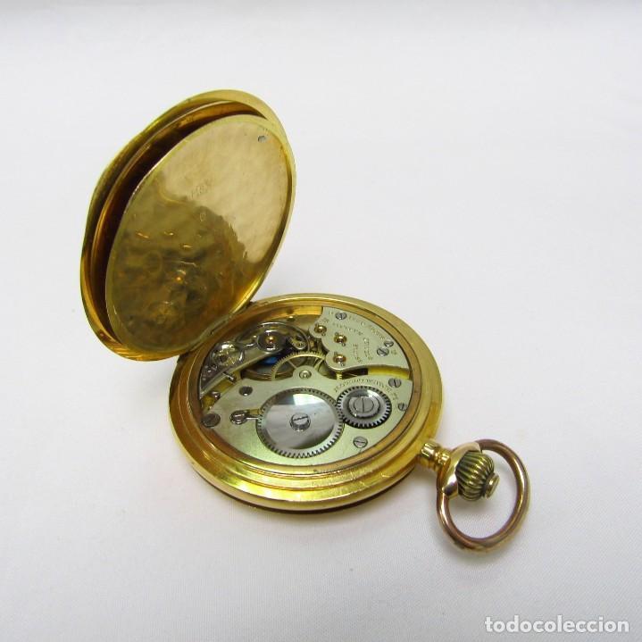 Relojes de bolsillo: Movado. Reloj de Bolsillo saboneta. Circa, 1900. Oro 18k. - Foto 4 - 195161467
