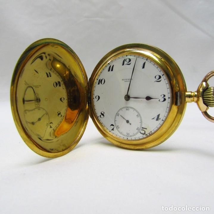 Relojes de bolsillo: Movado. Reloj de Bolsillo saboneta. Circa, 1900. Oro 18k. - Foto 5 - 195161467