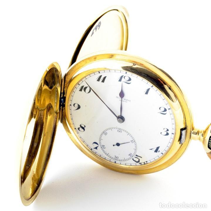 Relojes de bolsillo: Movado. Reloj de Bolsillo saboneta. Circa, 1900. Oro 18k. - Foto 6 - 195161467