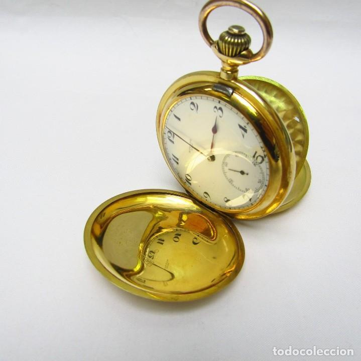 Relojes de bolsillo: Movado. Reloj de Bolsillo saboneta. Circa, 1900. Oro 18k. - Foto 10 - 195161467