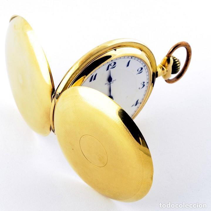 Relojes de bolsillo: Movado. Reloj de Bolsillo saboneta. Circa, 1900. Oro 18k. - Foto 13 - 195161467