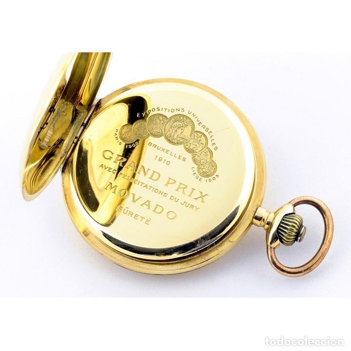 Relojes de bolsillo: Movado. Reloj de Bolsillo saboneta. Circa, 1900. Oro 18k. - Foto 14 - 195161467