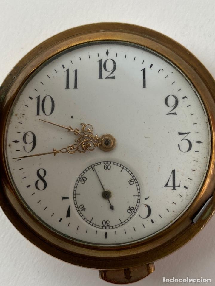 Relojes de bolsillo: RE-30. RELOJ DE BOLSILLO, CARGA MANUAL. METAL DORADO CON SONERIA. S.XIX. - Foto 2 - 195305858