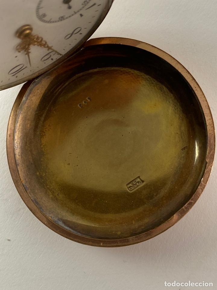 Relojes de bolsillo: RE-30. RELOJ DE BOLSILLO, CARGA MANUAL. METAL DORADO CON SONERIA. S.XIX. - Foto 3 - 195305858