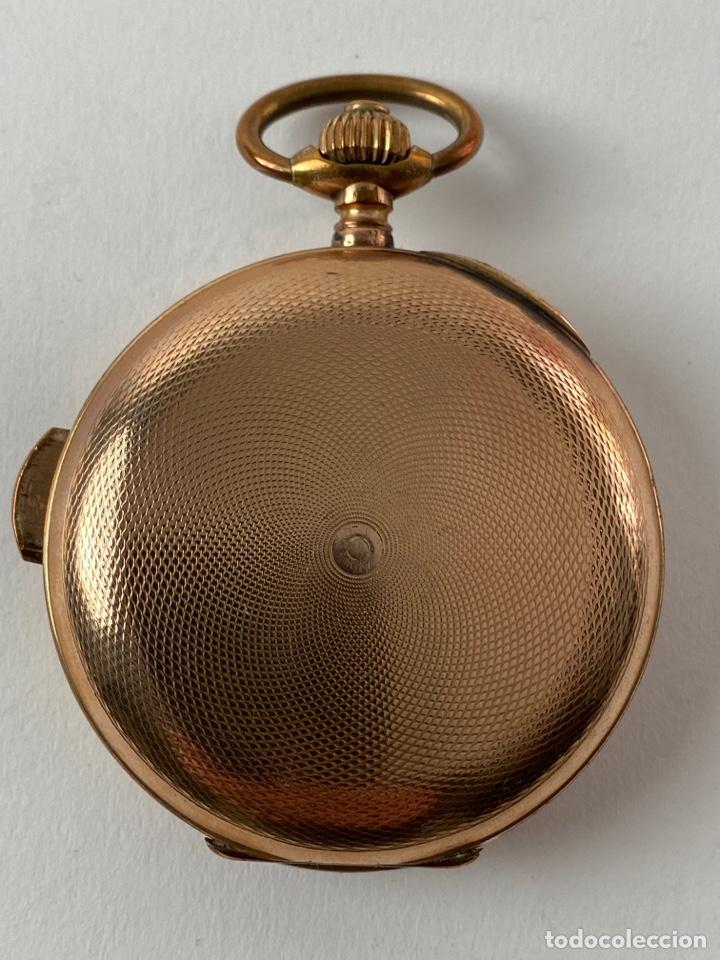 Relojes de bolsillo: RE-30. RELOJ DE BOLSILLO, CARGA MANUAL. METAL DORADO CON SONERIA. S.XIX. - Foto 4 - 195305858