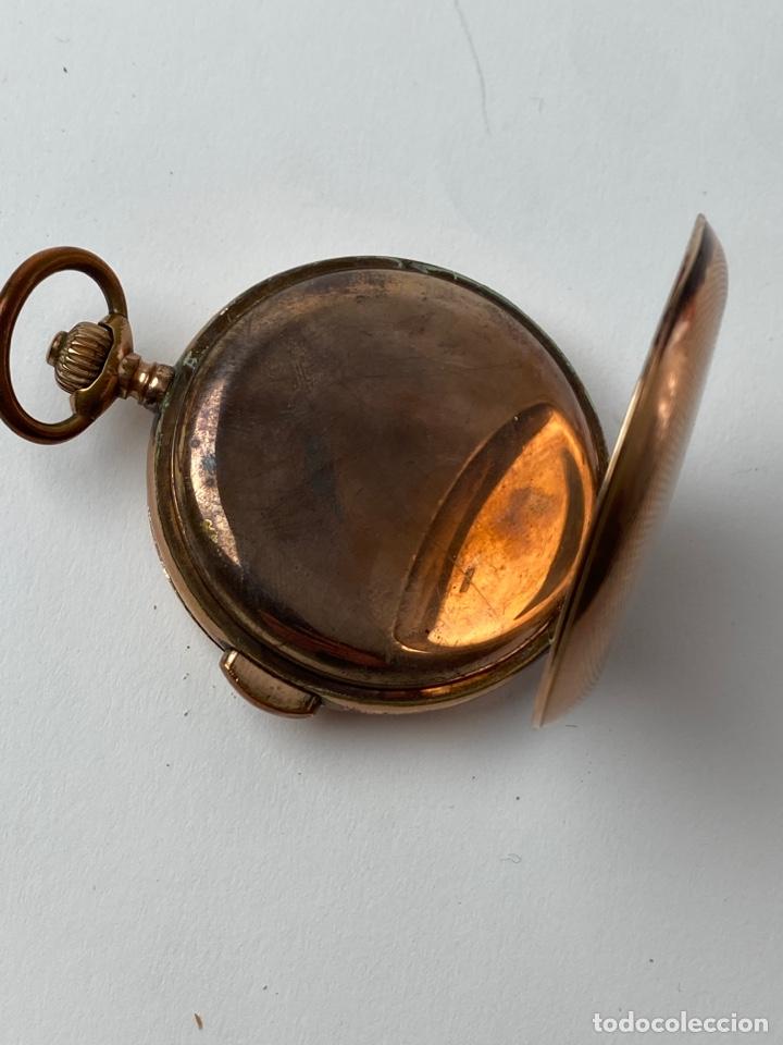 Relojes de bolsillo: RE-30. RELOJ DE BOLSILLO, CARGA MANUAL. METAL DORADO CON SONERIA. S.XIX. - Foto 5 - 195305858