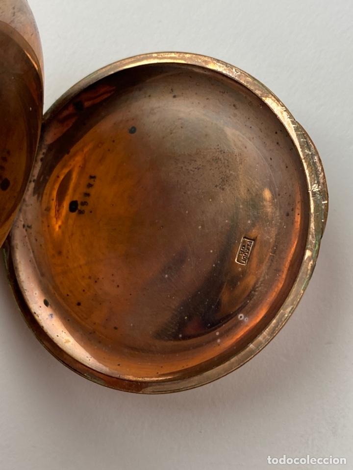 Relojes de bolsillo: RE-30. RELOJ DE BOLSILLO, CARGA MANUAL. METAL DORADO CON SONERIA. S.XIX. - Foto 6 - 195305858