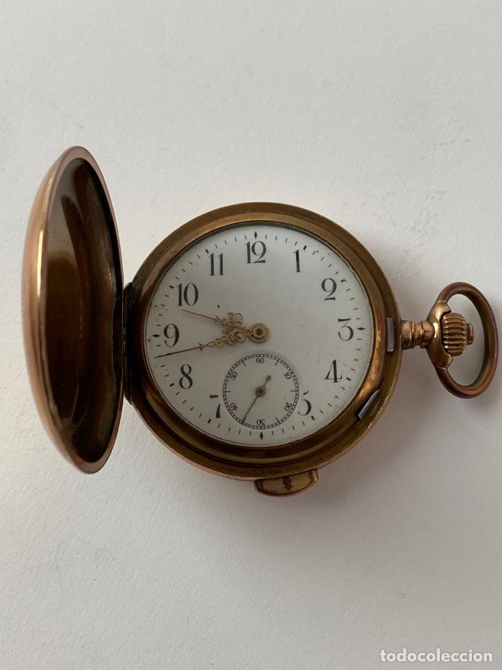 RE-30. RELOJ DE BOLSILLO, CARGA MANUAL. METAL DORADO CON SONERIA. S.XIX. (Relojes - Bolsillo Carga Manual)