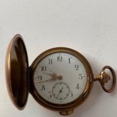 Relojes de bolsillo: RE-30. RELOJ DE BOLSILLO, CARGA MANIUAL. METAL DORADO CON SONERIA. S.XIX.. Lote 195305858