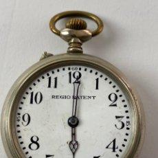 Relojes de bolsillo: RE-34. RELOJ DE BOLSILLO DE CARGA MANUAL. REGIO PATENT. PRINCIPIOS S .XX.. Lote 195306260