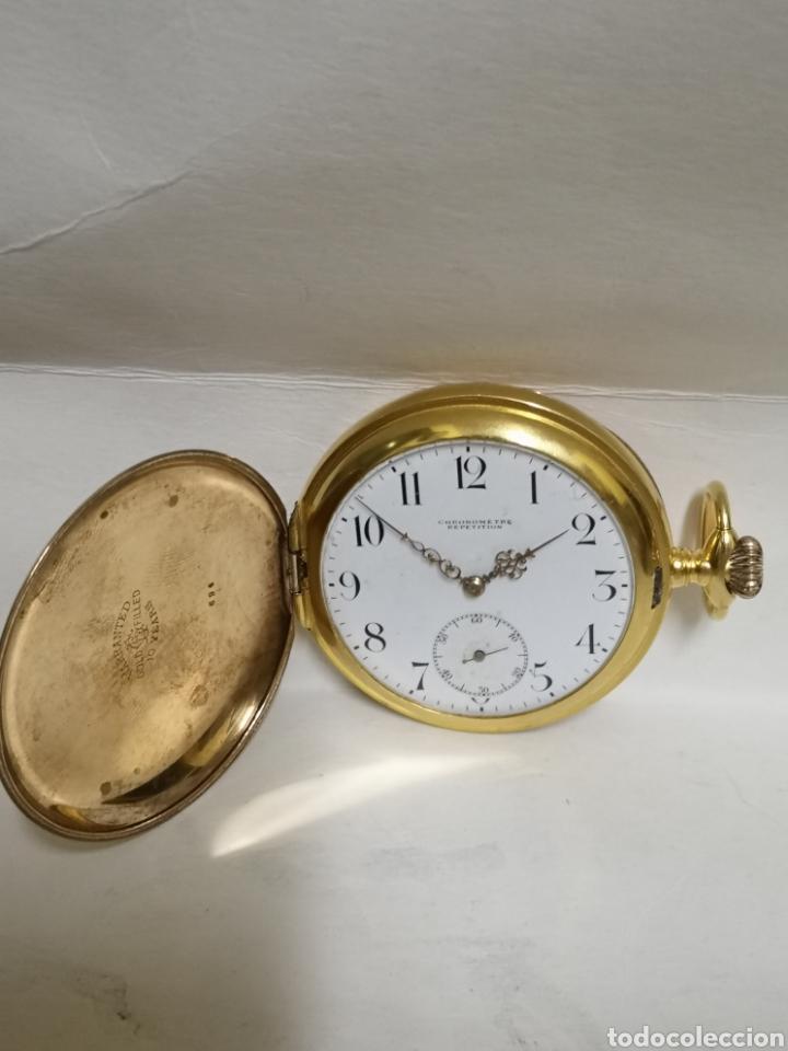 Relojes de bolsillo: Antiguo reloj de soneria chronometer repetición de 1898/1900 - Foto 14 - 195347137