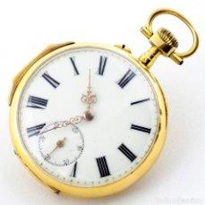 Relojes de bolsillo: RELOJ DE BOLSILLO, LEPINE Y REMONTOIR. CA. 1900. ORO 18K.. Lote 195356516