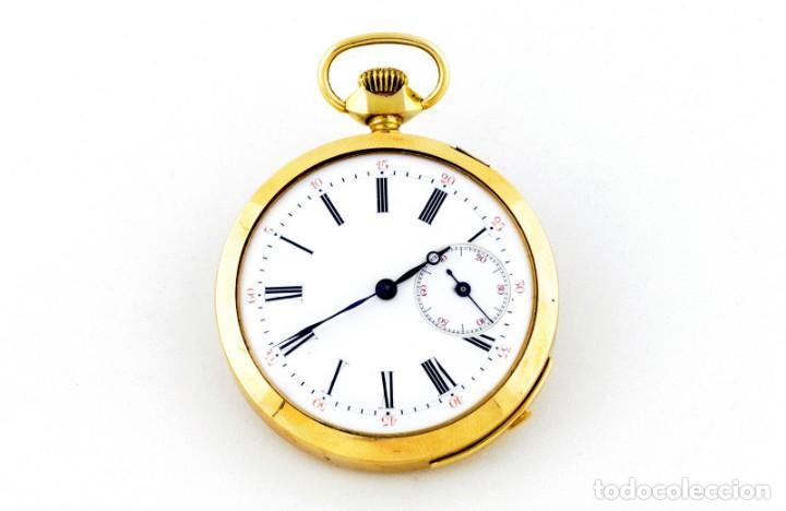 RELOJ SUIZO DE REPETICIÓN DE HORAS Y CUARTOS, LEPINE Y REMONTOIR. FINALES SIGLO XIX. ORO 18K. (Relojes - Bolsillo Carga Manual)