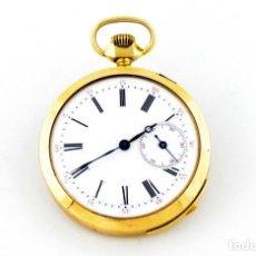 Relojes de bolsillo: RELOJ SUIZO DE REPETICIÓN DE HORAS Y CUARTOS, LEPINE Y REMONTOIR. FINALES SIGLO XIX. ORO 18K.. Lote 195357175