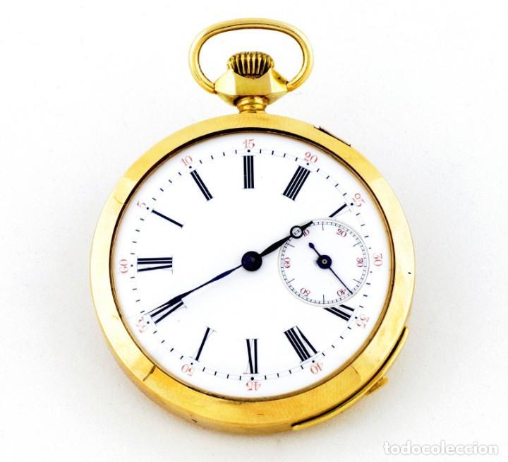 Relojes de bolsillo: Reloj Suizo de Repetición de Horas y Cuartos, Lepine y Remontoir. Finales siglo XIX. Oro 18k. - Foto 2 - 195357175