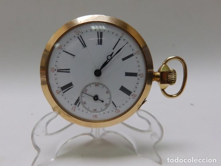 Relojes de bolsillo: Reloj Suizo de Repetición de Horas y Cuartos, Lepine y Remontoir. Finales siglo XIX. Oro 18k. - Foto 4 - 195357175