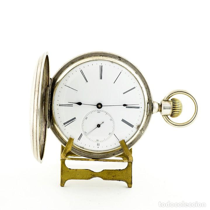 DROZ & PERRET. RELOJ DE BOLSILLO, SABONETA Y REMONTOIR. ST. IMIER, SUIZA, CA. 1880. (Relojes - Bolsillo Carga Manual)