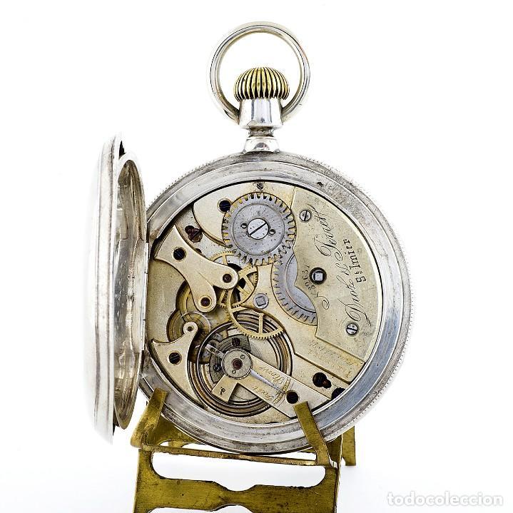 Relojes de bolsillo: DROZ & PERRET. Reloj de Bolsillo, saboneta y remontoir. St. Imier, Suiza, ca. 1880. - Foto 3 - 195357680