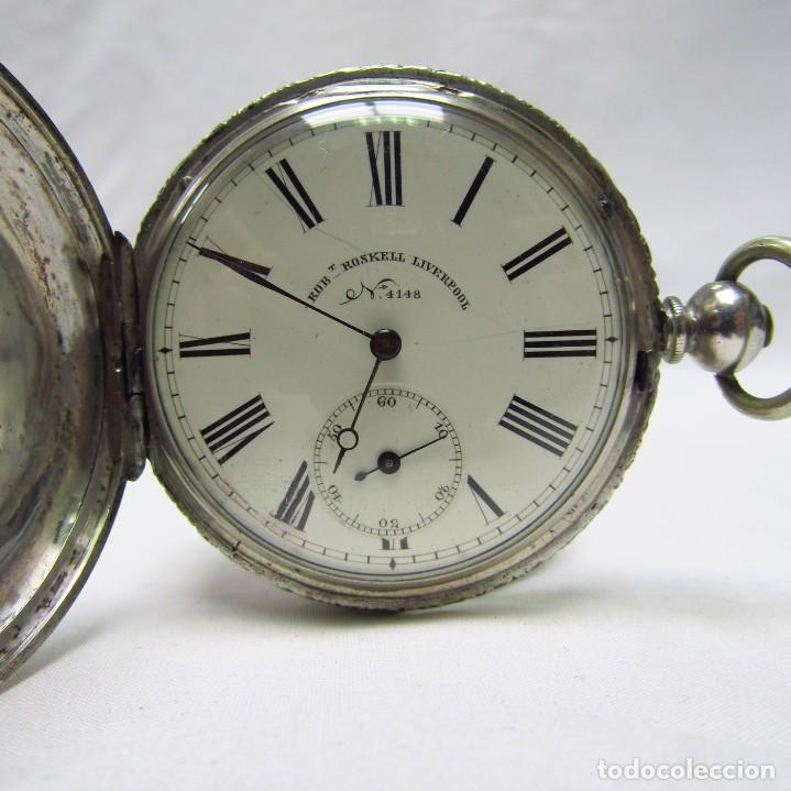 ROBT. ROSKELL (LIVERPOOL).RELOJ DE BOLSILLO, SABONETA. LONDRES, CA. 1830. (Relojes - Bolsillo Carga Manual)
