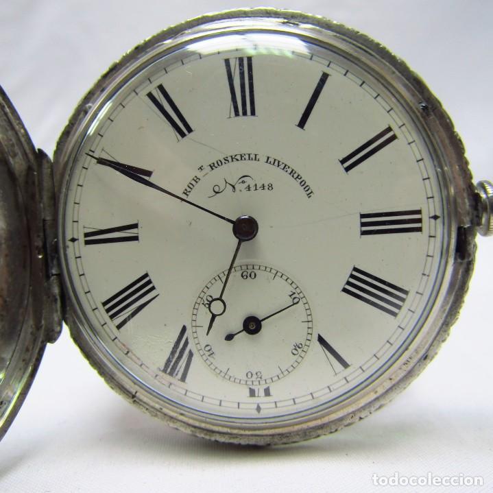 Relojes de bolsillo: ROBT. ROSKELL (Liverpool).Reloj de Bolsillo, saboneta. Londres, ca. 1830. - Foto 2 - 195357973