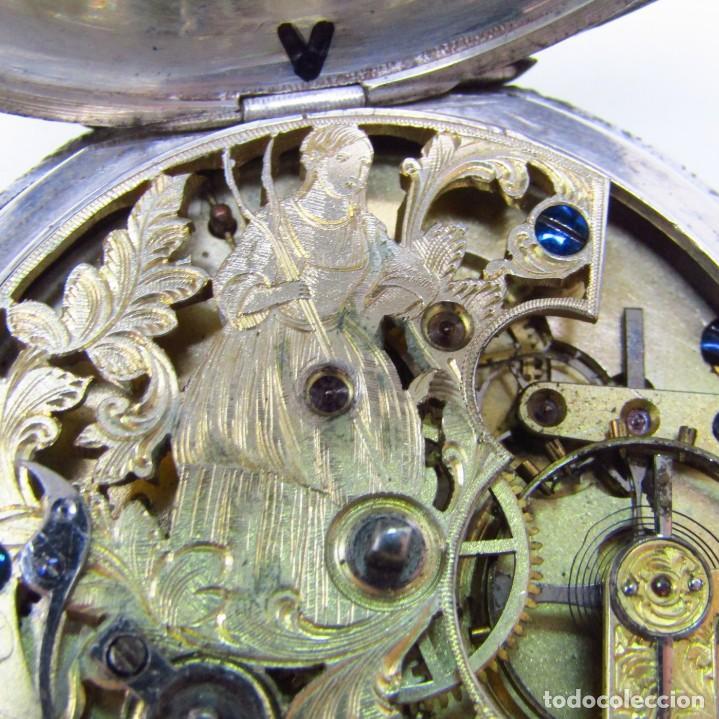 Relojes de bolsillo: ROBT. ROSKELL (Liverpool).Reloj de Bolsillo, saboneta. Londres, ca. 1830. - Foto 3 - 195357973