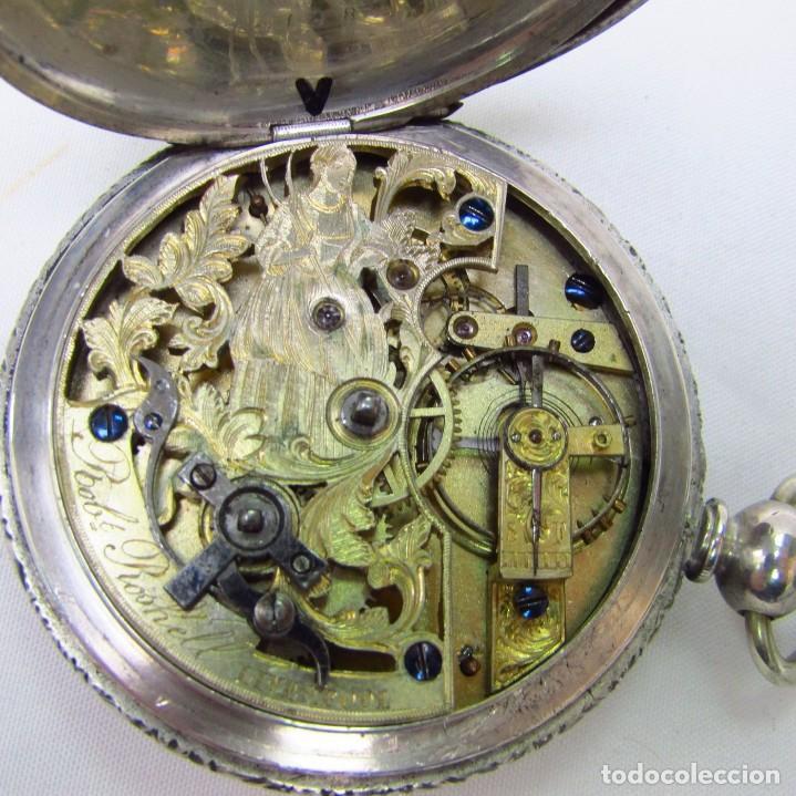 Relojes de bolsillo: ROBT. ROSKELL (Liverpool).Reloj de Bolsillo, saboneta. Londres, ca. 1830. - Foto 4 - 195357973