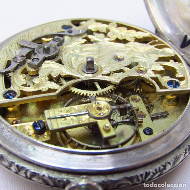 Relojes de bolsillo: ROBT. ROSKELL (Liverpool).Reloj de Bolsillo, saboneta. Londres, ca. 1830. - Foto 5 - 195357973