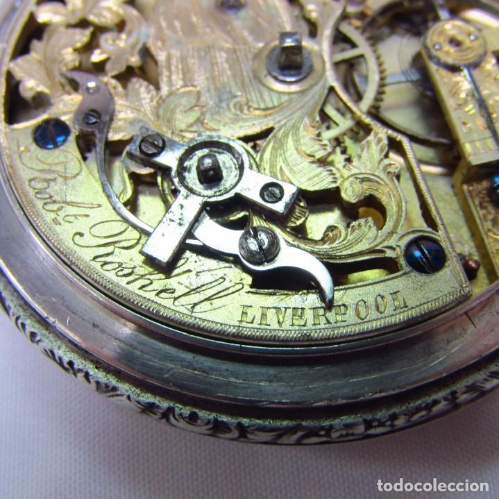 Relojes de bolsillo: ROBT. ROSKELL (Liverpool).Reloj de Bolsillo, saboneta. Londres, ca. 1830. - Foto 6 - 195357973
