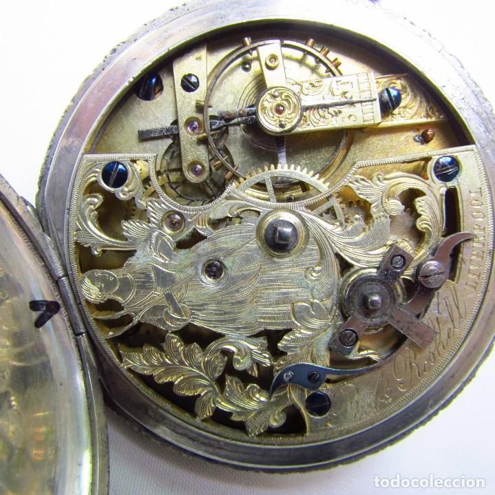 Relojes de bolsillo: ROBT. ROSKELL (Liverpool).Reloj de Bolsillo, saboneta. Londres, ca. 1830. - Foto 7 - 195357973