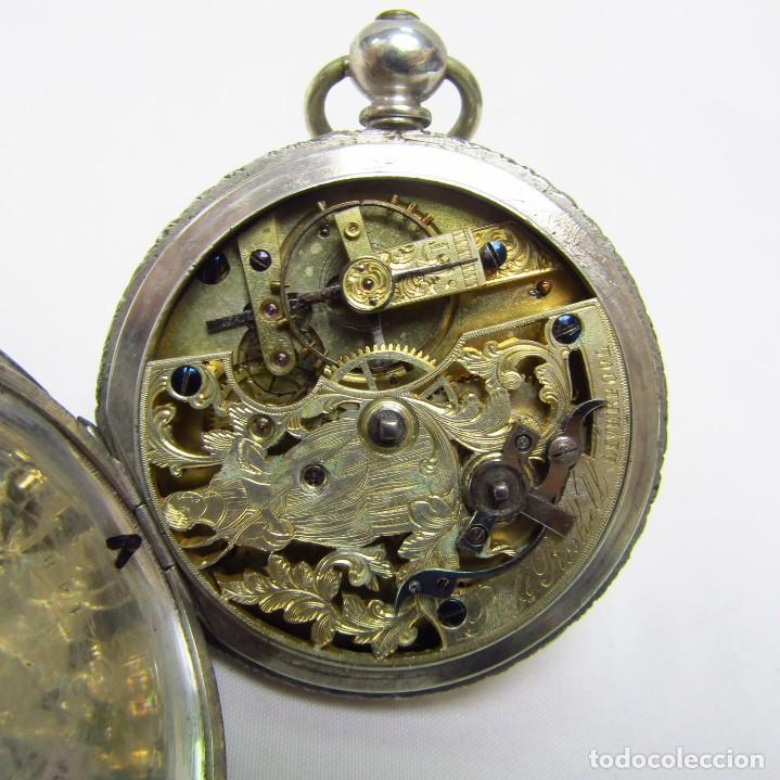 Relojes de bolsillo: ROBT. ROSKELL (Liverpool).Reloj de Bolsillo, saboneta. Londres, ca. 1830. - Foto 8 - 195357973