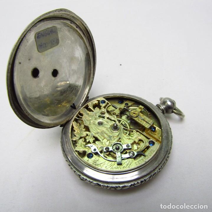 Relojes de bolsillo: ROBT. ROSKELL (Liverpool).Reloj de Bolsillo, saboneta. Londres, ca. 1830. - Foto 9 - 195357973