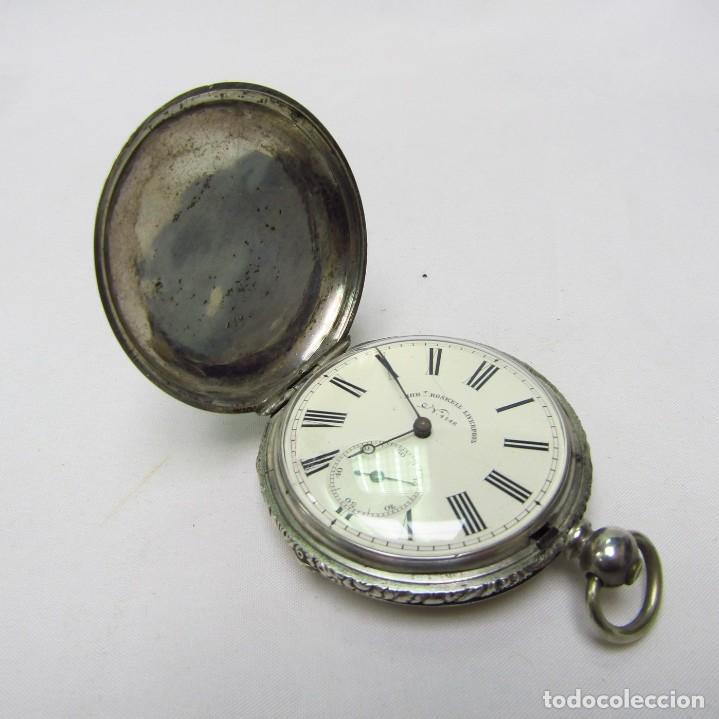 Relojes de bolsillo: ROBT. ROSKELL (Liverpool).Reloj de Bolsillo, saboneta. Londres, ca. 1830. - Foto 10 - 195357973