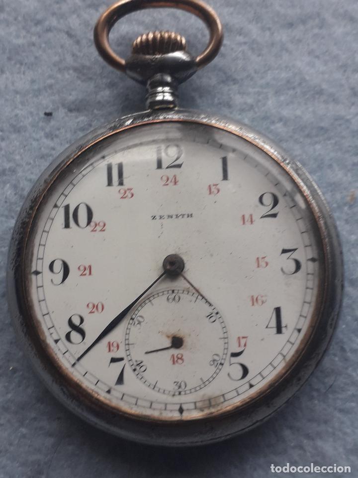 Relojes de bolsillo: Reloj de Bolsillo Antiguo Marca Zenith - Foto 5 - 195377638