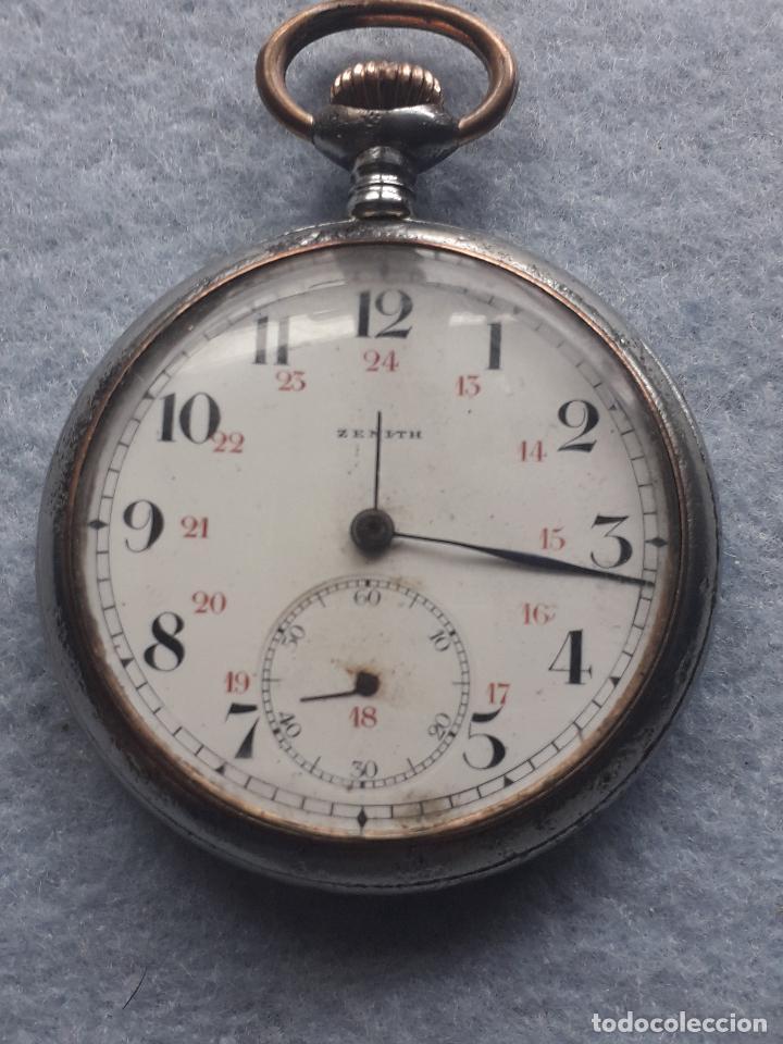 Relojes de bolsillo: Reloj de Bolsillo Antiguo Marca Zenith - Foto 8 - 195377638