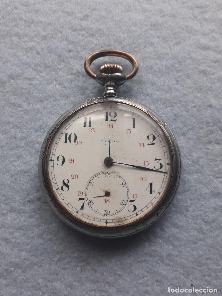 RELOJ DE BOLSILLO ANTIGUO MARCA ZENITH (Relojes - Bolsillo Carga Manual)