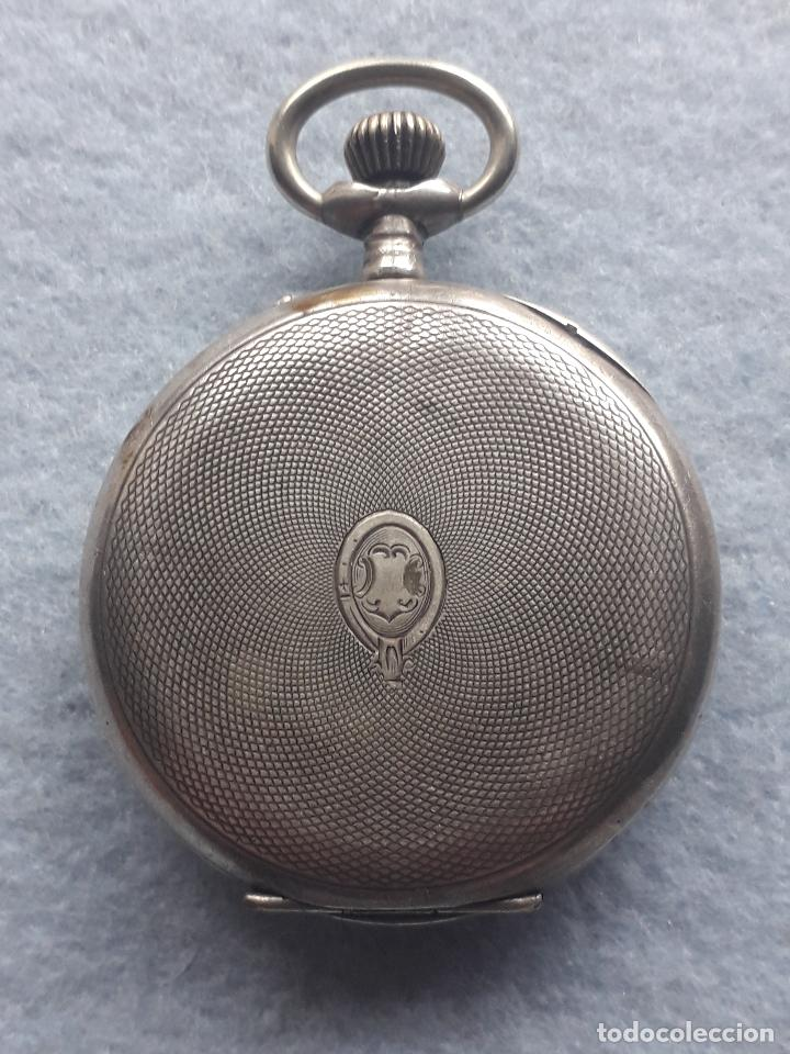 Relojes de bolsillo: Reloj de Bolsillo Antiguo Marca Union Horlogere, con Caja de plata - Foto 2 - 195378083