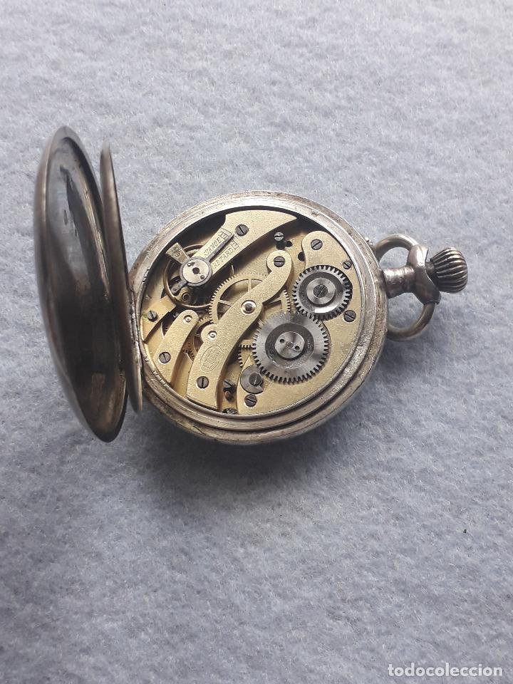 Relojes de bolsillo: Reloj de Bolsillo Antiguo Marca Union Horlogere, con Caja de plata - Foto 6 - 195378083