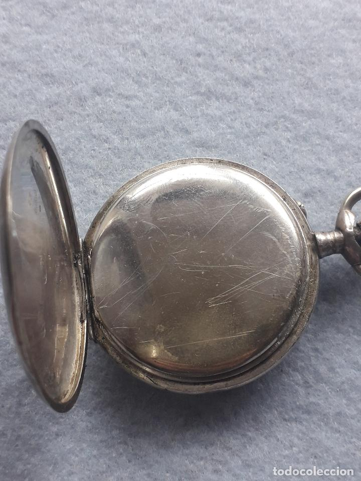 Relojes de bolsillo: Reloj de Bolsillo Antiguo Marca Union Horlogere, con Caja de plata - Foto 4 - 195378083
