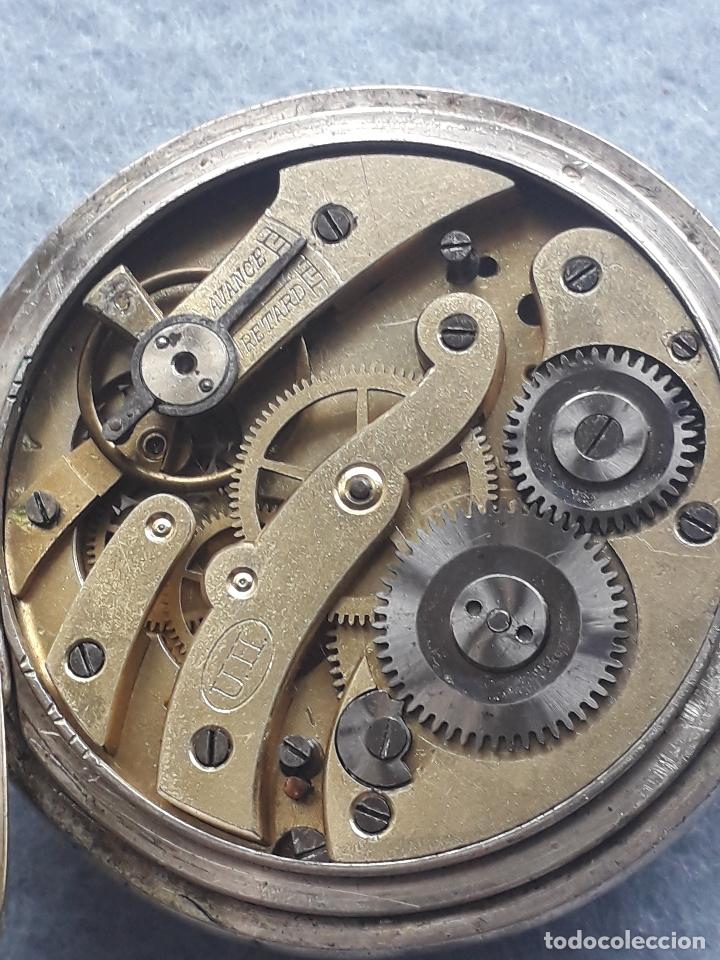 Relojes de bolsillo: Reloj de Bolsillo Antiguo Marca Union Horlogere, con Caja de plata - Foto 7 - 195378083