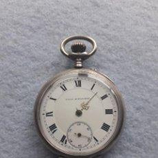 Relojes de bolsillo: RELOJ DE BOLSILLO ANTIGUO MARCA UNION HORLOGERE, CON CAJA DE PLATA. Lote 195378083