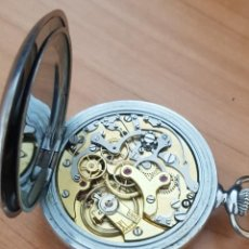 Relojes de bolsillo: RELOJ ANTIGUO DE BOLSILLO CON CRONÓGRAFO BUEN ESTADO FUNCIONA ALTA COLECCIÓN . Lote 195435737