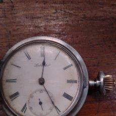 Relojes de bolsillo: ANTIGUO RELOJ DE BOLSILLO LABRADOR AÑO 1889 EN PLATA 900. Lote 195436807